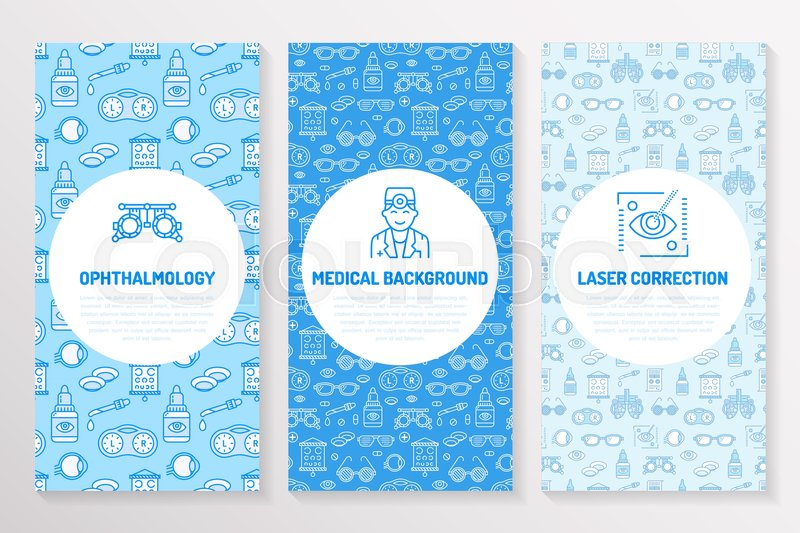Ophthalmology Medical Brochure Template Flyer Eye Health Care