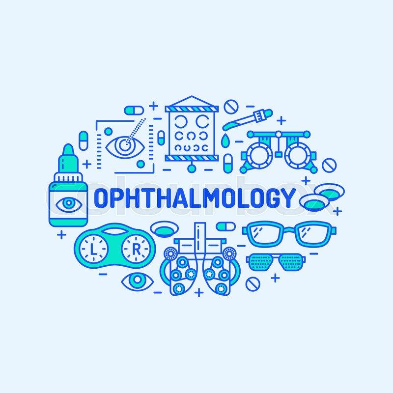 Ophthalmology Medical Banner Illustration Eyes Health Care Vector