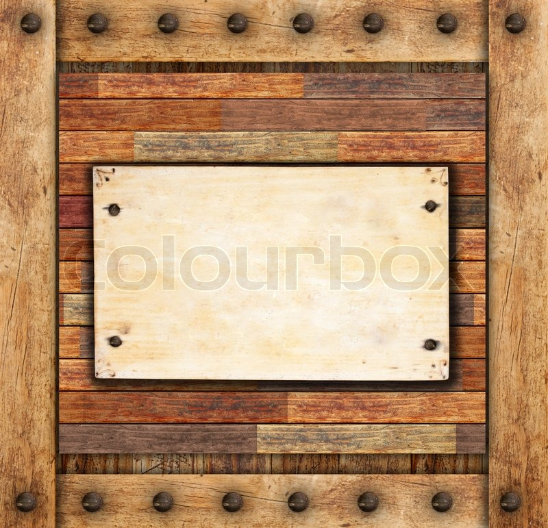 Wood Frame Texture : Stock image of Brown wood frame texture background