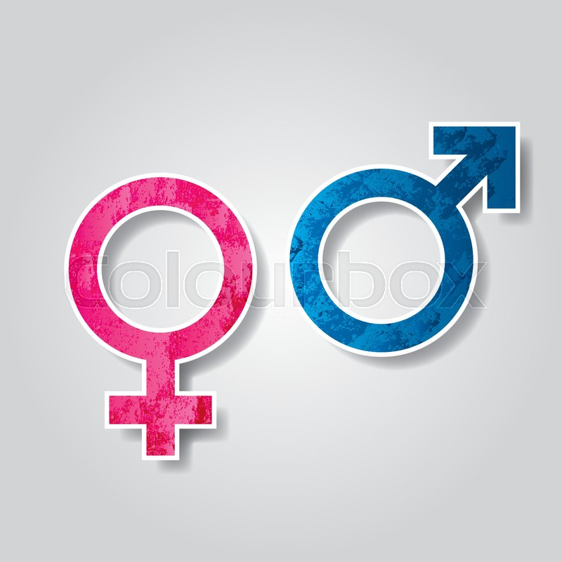 Venus And Mars Symbol Representing The Woman And The Man The