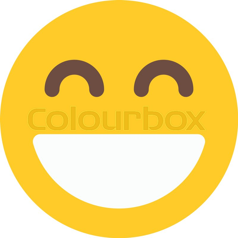 smiling emoji with open mouth stock vector colourbox