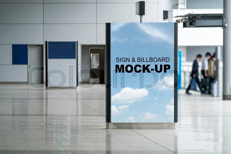 A Blank With Sky Background Billboard Mock Up Vertical