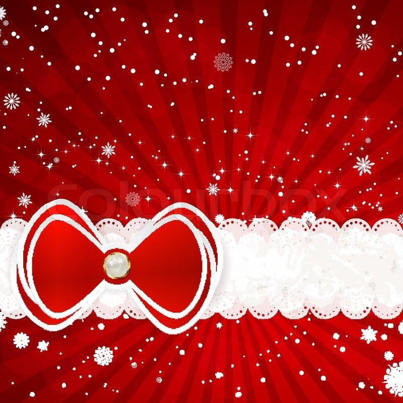 weihnachten hintergrund mit schleife vektor illustration. Black Bedroom Furniture Sets. Home Design Ideas