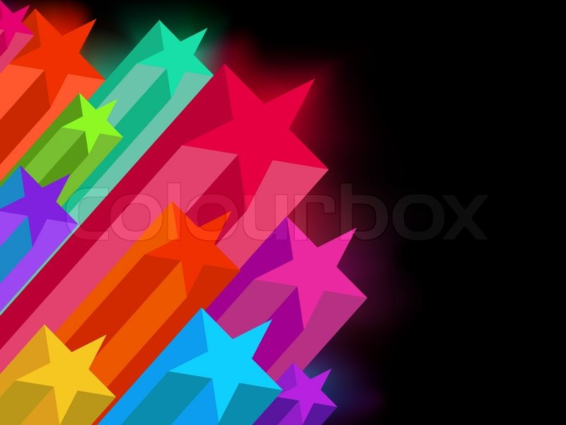 Abstract Glowing Stars On A Dark Background