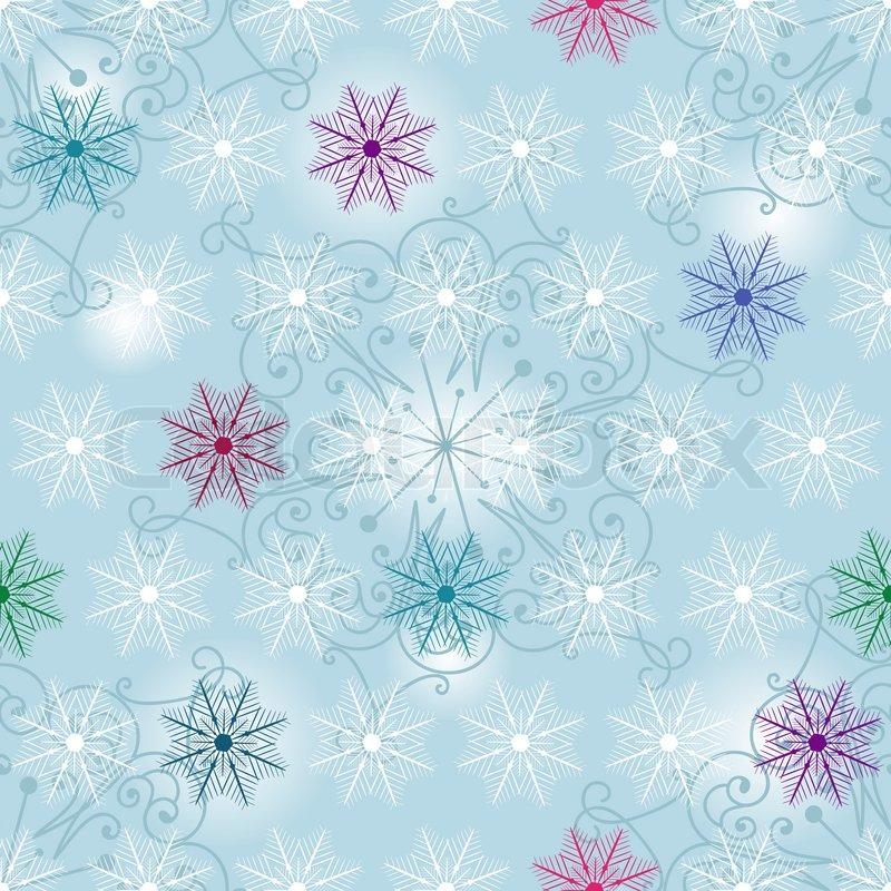 nahtlose wei blau weihnachten muster mit bunten. Black Bedroom Furniture Sets. Home Design Ideas