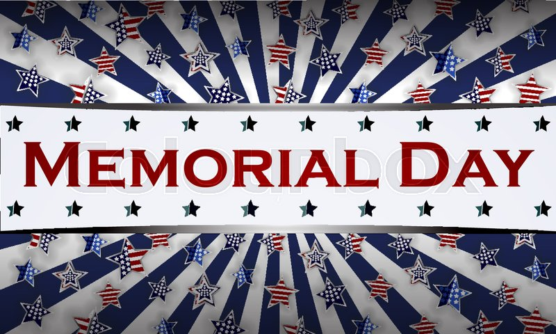 happy memorial day background template stars and american flag