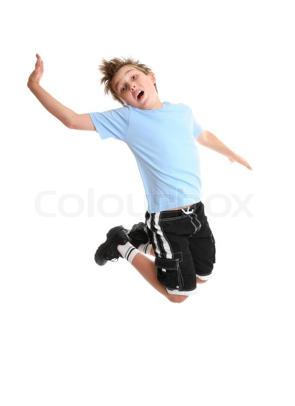 Child moving and grooving | Stock Photo
