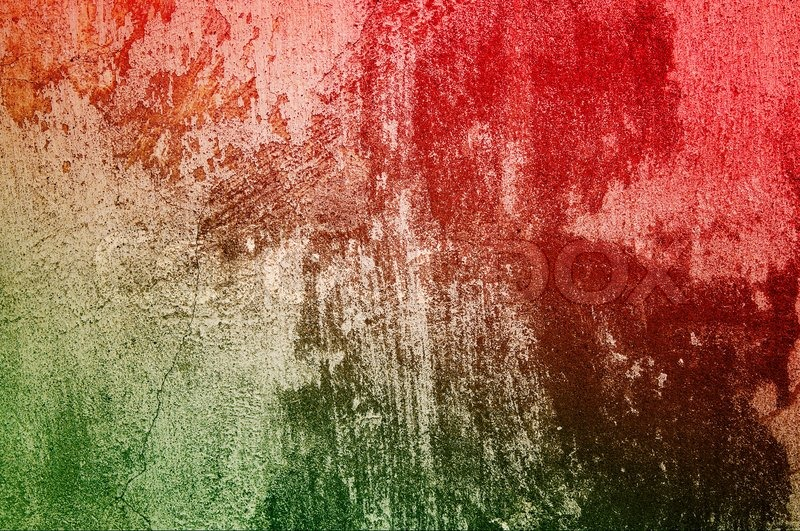 Old Green Red Grunge Wall Can Be Used As Background