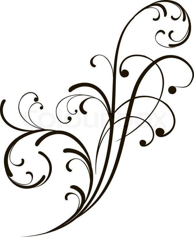 Abstract Background With Decorative Branch Vector Illustration