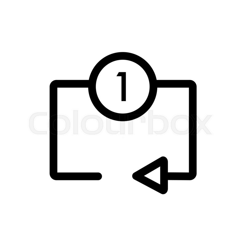 Repeat Media Player Icon Repeat One Music Track Symbol Eps 10