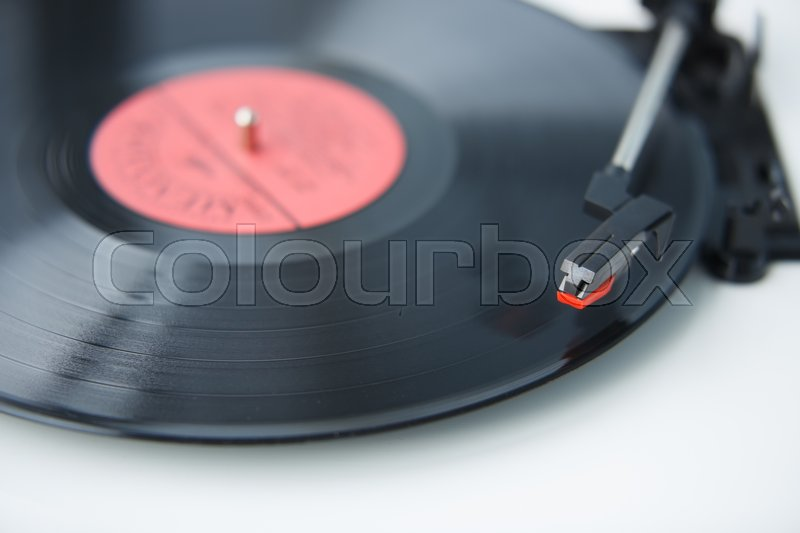 vintage hipster vinyl records player turntable retro audio equipment