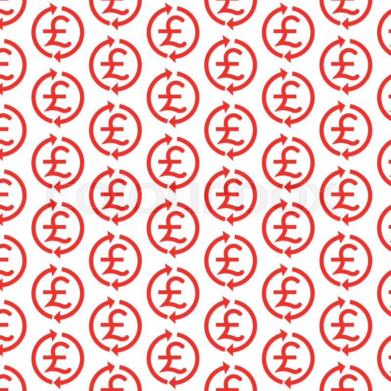 Pattern Background Money Pound Icon Gbp Currency Symbol Stock