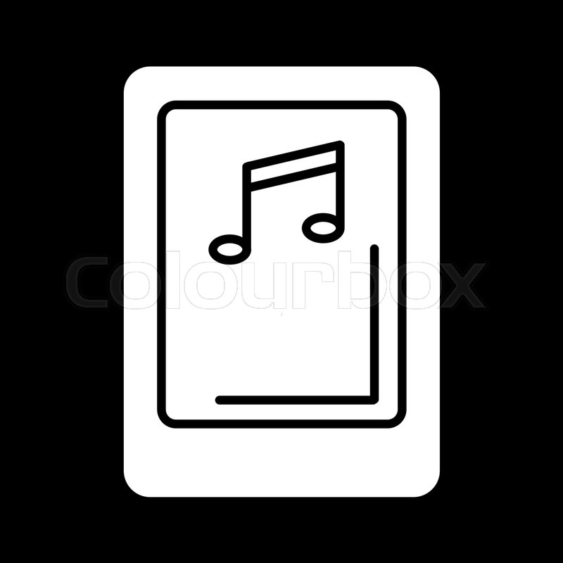 Isolated tablet screen with music       Stock vector   Colourbox