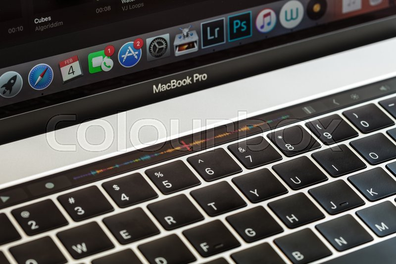 apple thailand office. Bangkok, Thailand - April 2, 2017: Close-up Touch Bar On Macbook Pro 2016, Is New Function 2016 By Apple Inc, Stock Photo Office E