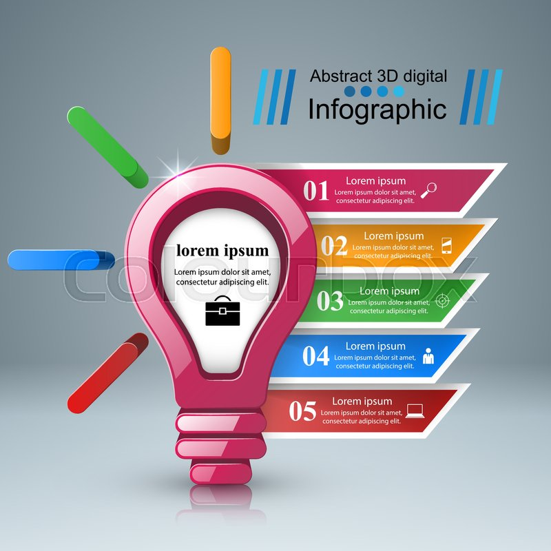 3d infographic design template and