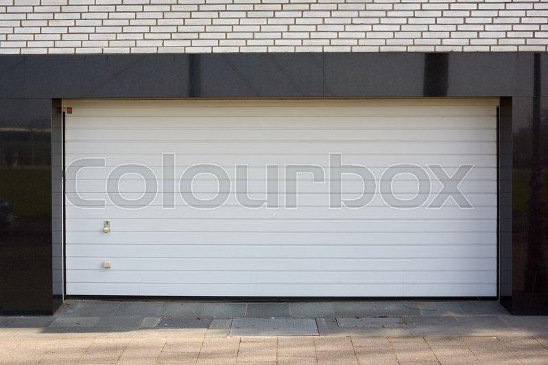 Garage Door. Roller shutter garage door , stock photo