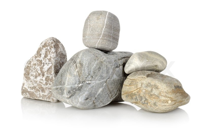 Heap A Stones Isolated On A White Stock Image Colourbox