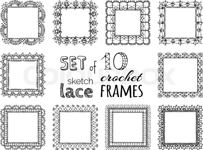 Ornate Crochet Borders Edging And Border Patterns Decorative
