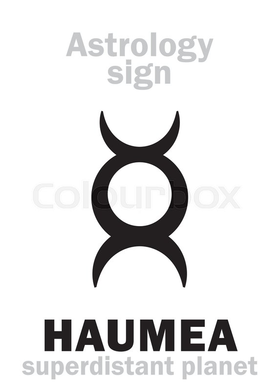 Astrology Alphabet Haumea Superdistant Dwarf Planet Hieroglyphics