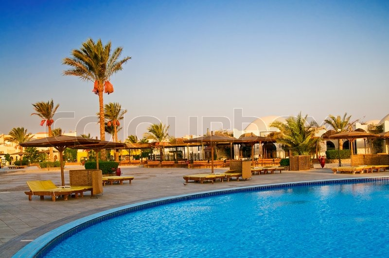 Luxury Hotel Swimming Pool In The Egypt Stock Photo Colourbox