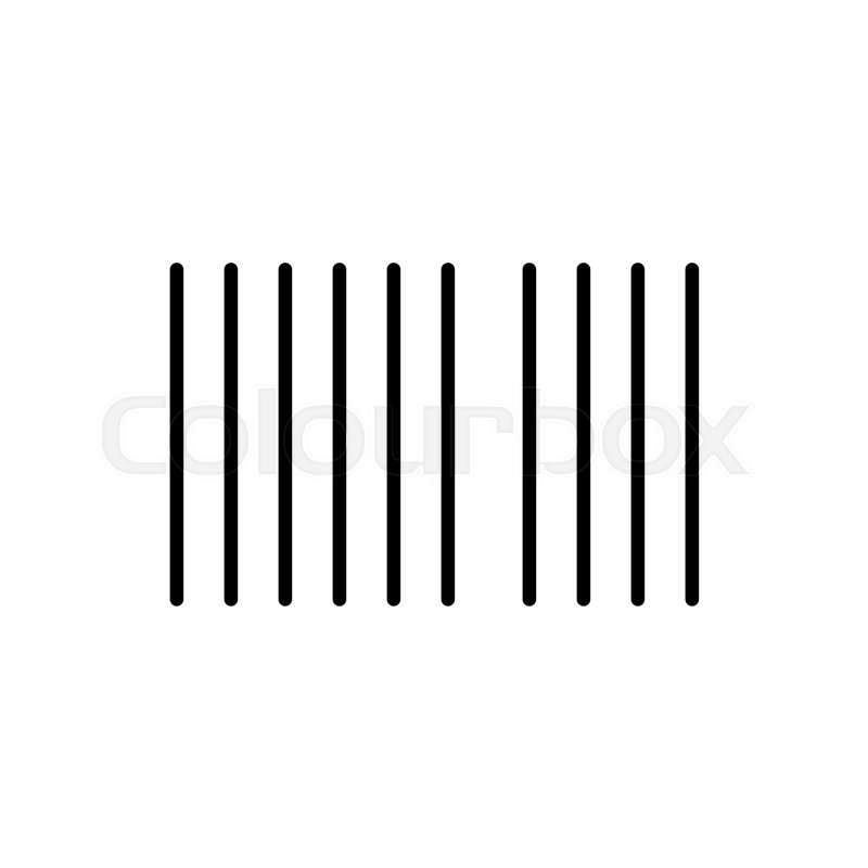 barcode vector icon black and white barcode illustration outline