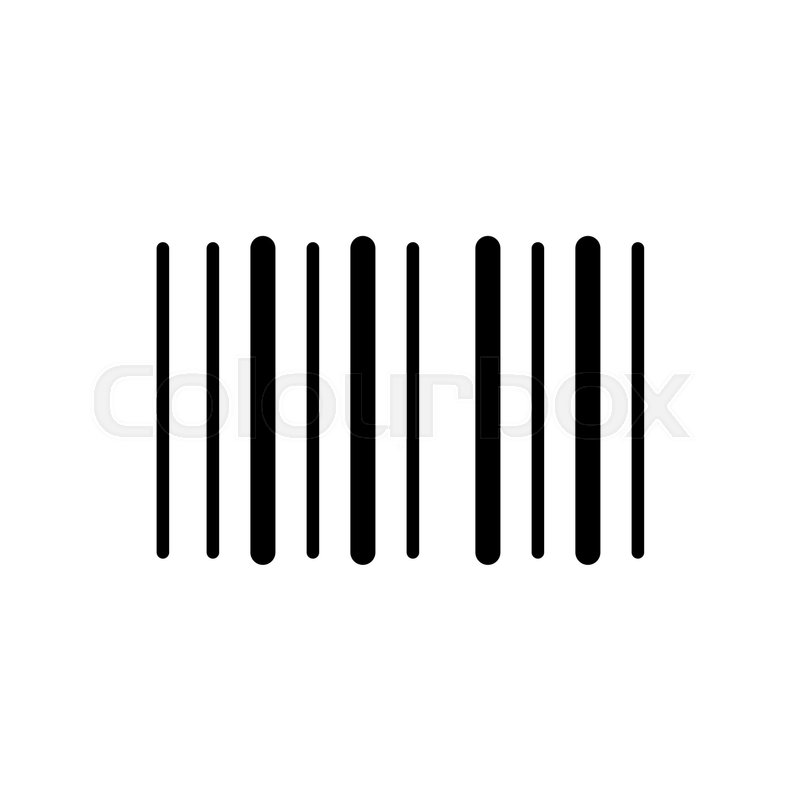 barcode vector icon black and white barcode illustration solid