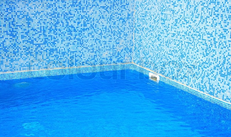 Blue water in swimming pool stock photo colourbox - How to make swimming pool water blue ...
