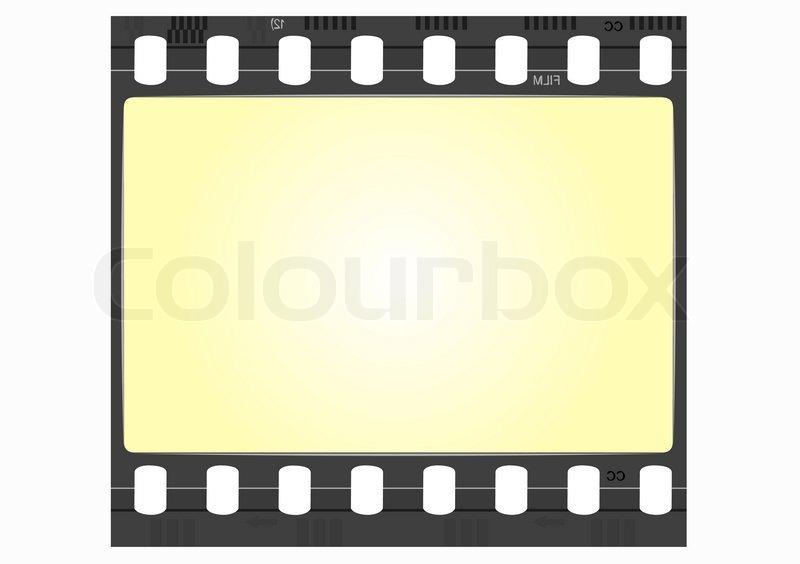 Bild Der Realen Film Frame Vektor Vektorgrafik Colourbox