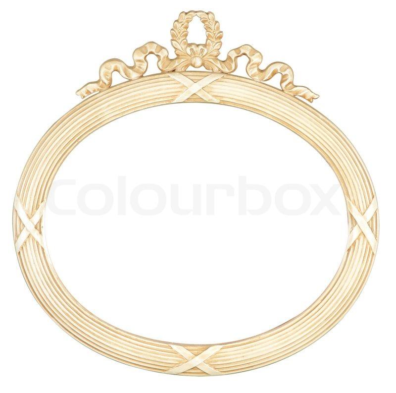 Isoliert ovalen Spiegel -Rahmen | Stockfoto | Colourbox