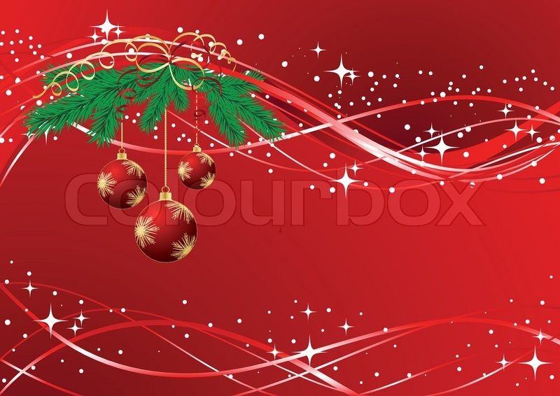 Vector Christmas Amp New Year S Greeting Card Stock Vector