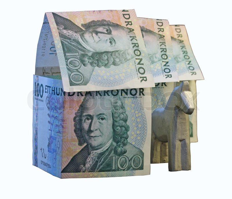 konzept bild auf haus hypothek auf wei mit clipping pfad stockfoto colourbox. Black Bedroom Furniture Sets. Home Design Ideas