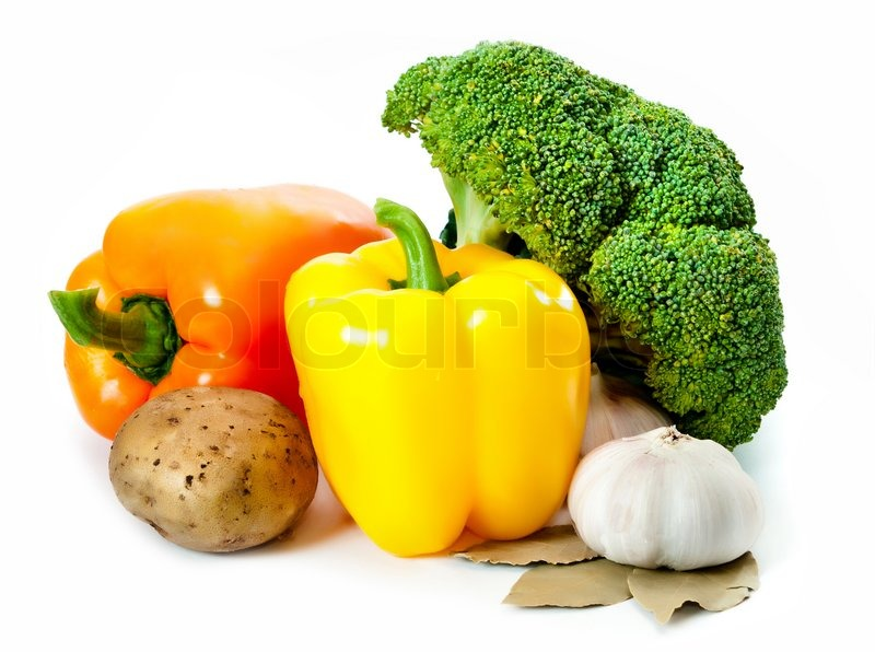 Stock image of 'Different delicious summer vegetables on the table'