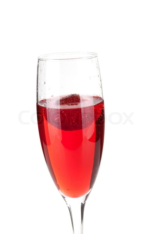 Champagne with strawberry - christmas alcohol cocktail ...