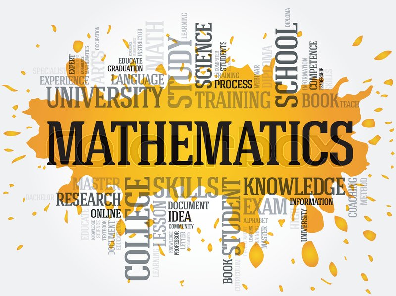 mathematics word cloud collage education concept background stock