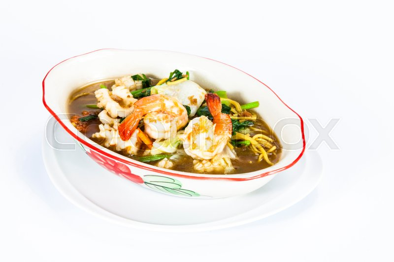 Crispy yellow noodle with in a creamy gravy sauce chinese and thai crispy yellow noodle with in a creamy gravy sauce chinese and thai style food in thai language call is rad na mee krob stock photo colourbox forumfinder Images