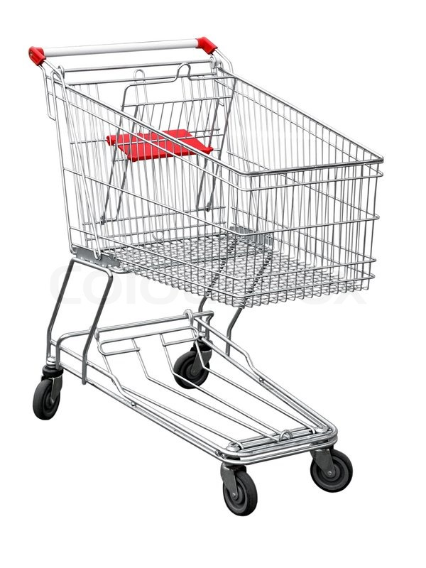 Stock image of 'Shopping cart isolated on white'