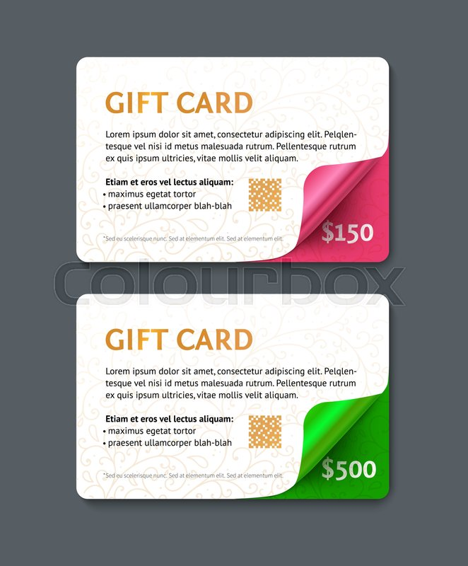 voucher template with gold pattern and curved corners design usable