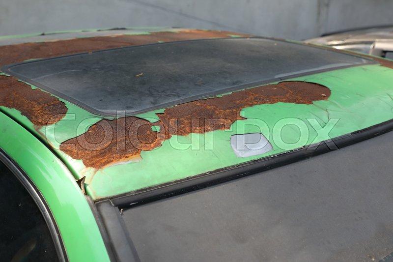 Car color peeling paint damage | Stock image | Colourbox