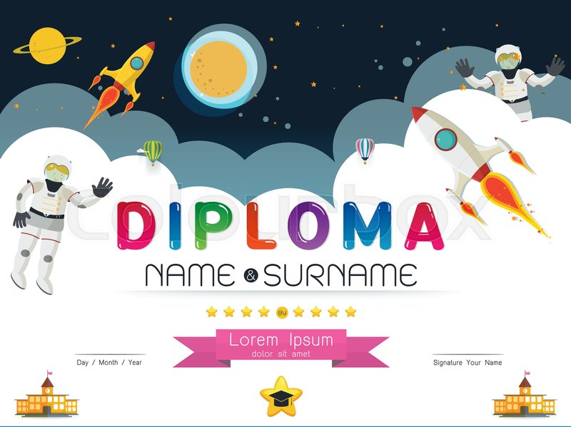 kids diploma template preschool elementary school kids diploma