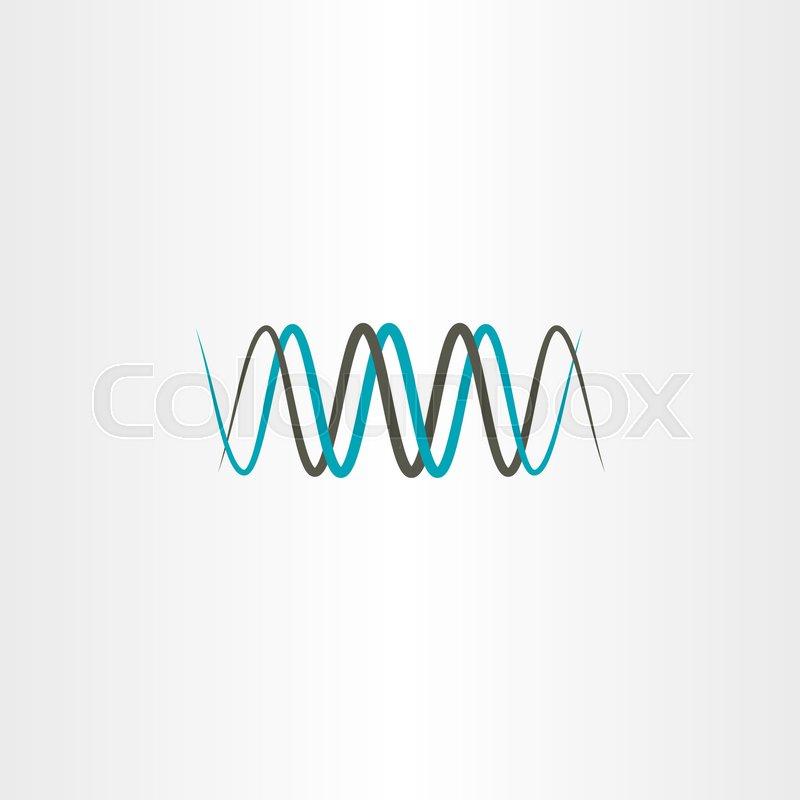 Frequency Wavelength Logo Vector Symbol Stock Vector Colourbox