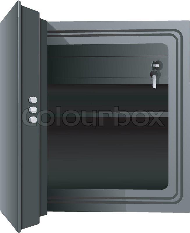 Open the safe. Vector | Stock Vector | Colourbox
