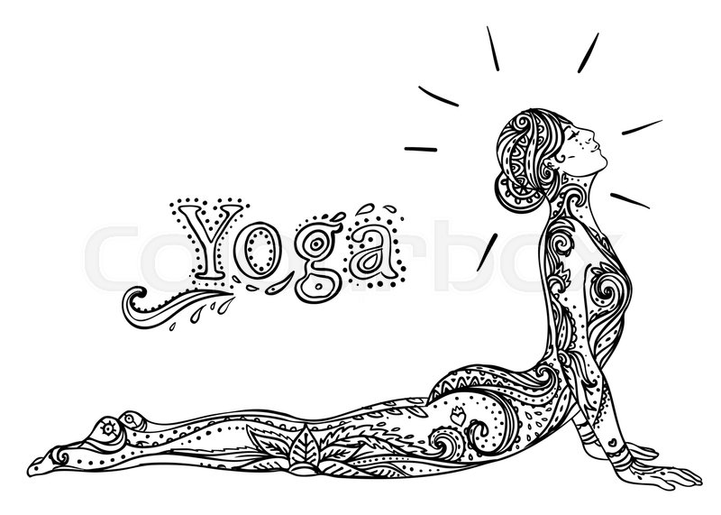 Hand Drawn Background Mehenidi Ornate Decorative Style Yoga Studio Concept Indian Hindu Motifs Coloring Book For Adults