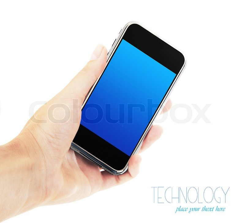 Technology Management Image: Female Hand Holding Mobile Phone, ...