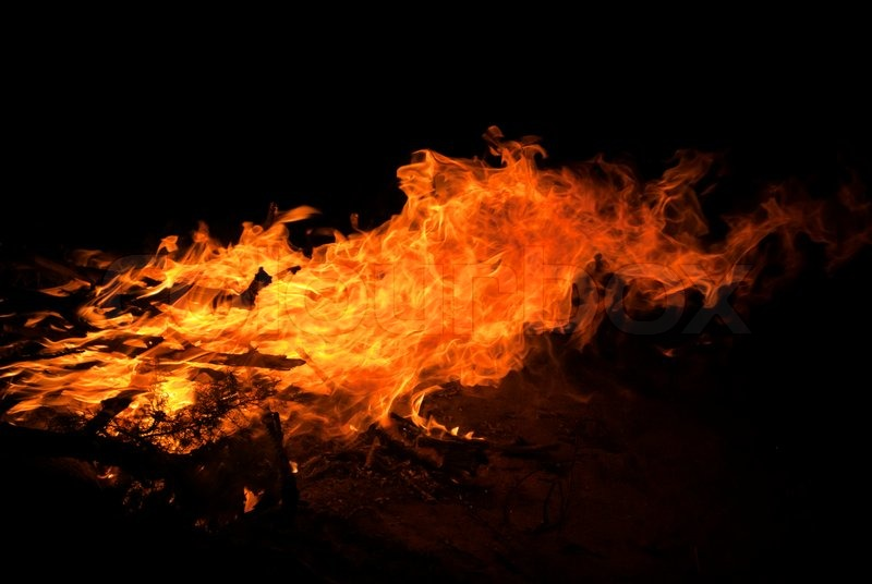 Natural Fire Background Stock Photo Colourbox