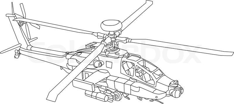 for an apache helicopter parts diagram