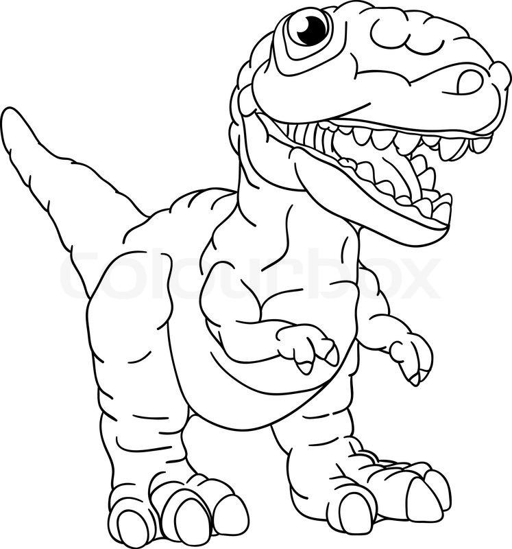 Vector - a small dinosaur isolated on ... | Stock vector ...