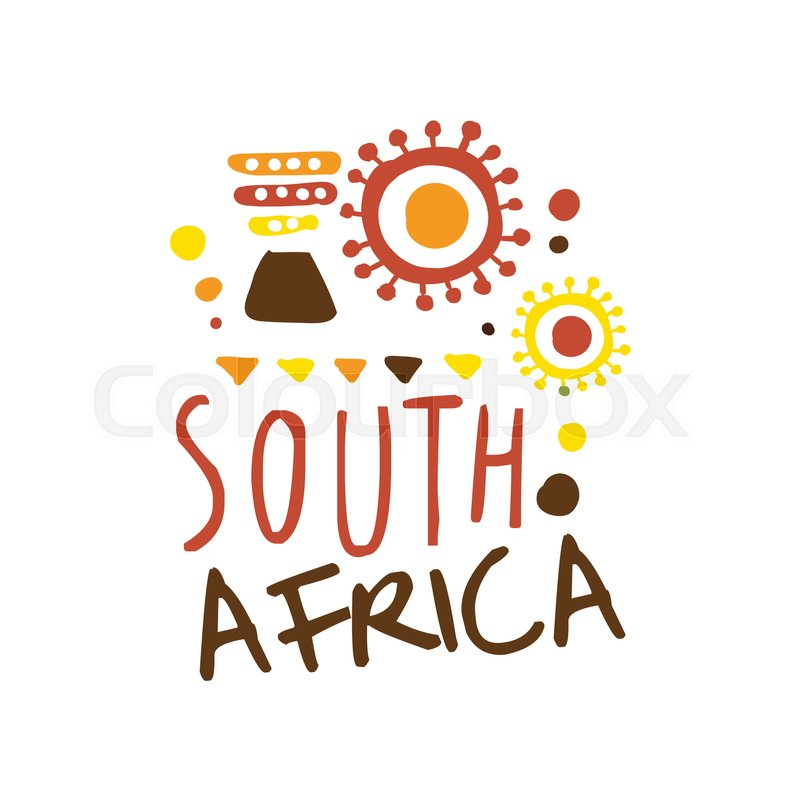 South Africa tourism logo template | Stock Vector
