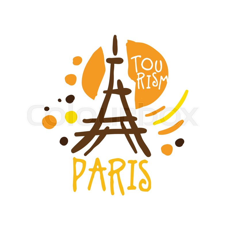 Paris tourism logo template hand drawn vector illustration for paris tourism logo template hand drawn vector illustration for travel agency tour guide sticker banner card advertisement vector pronofoot35fo Image collections
