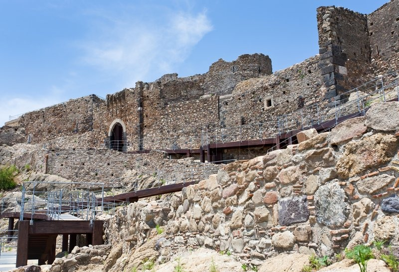 Calatabiano Italy  city images : Arab Byzantine ancient castello Calatabiano, Sicily | Stock Photo ...