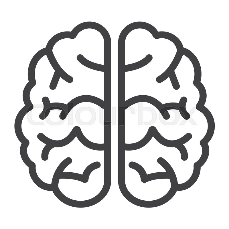Stock vector of 'brain, background, intellect'